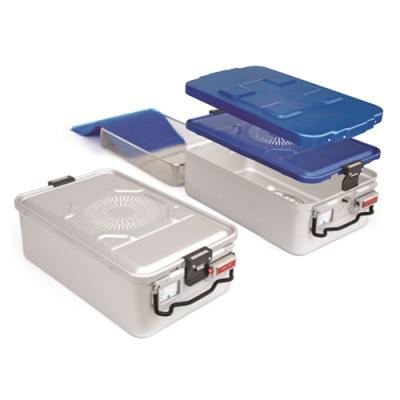 先丰 1/1 标准型灭菌盒 600mm(长)x285mm(宽)x100 mm(高)银色底/盖子可选5色