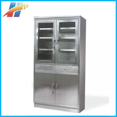海通医疗 立式医用双开门诊所药品柜 医用不锈钢储药柜代理