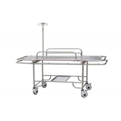 康迪医疗 E1全不锈钢四小轮担架车 标准型救护担架车报价