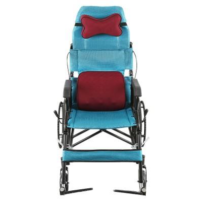 如意医疗 高靠背半躺轮椅 多功能便携式老年折叠轻便手推车厂家