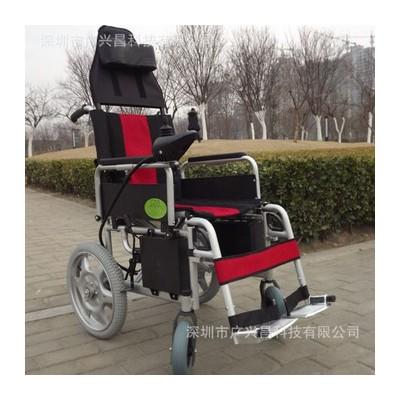 广昌兴折叠电动轮椅老年人代步车 残疾人助行器助力车厂家