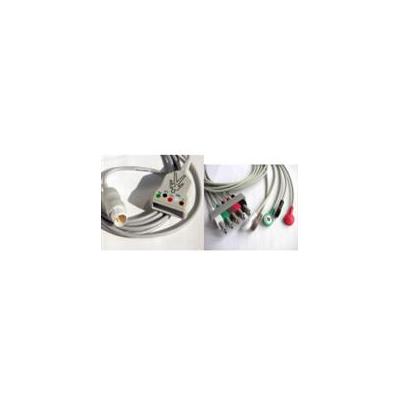 美成医疗 菲利普Philips/HP心电导联线 一体式五导心电导联线厂家