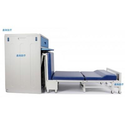 全塑胶共享陪护床生产厂家 鑫瑞医院陪护床柜定制