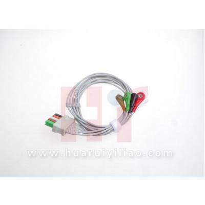 华川江瑞 89-58-1 一次性扣式心电导联线 心电电缆五导导联线价格