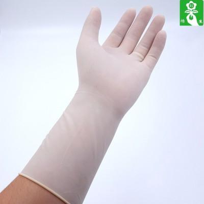 恒生一次性手术乳胶手套 乐康医疗灭菌橡胶外科手套