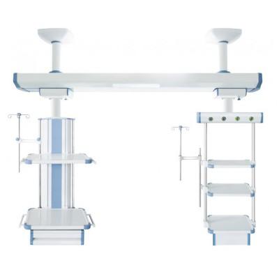 力泰医疗 医用重症监护室梁氏吊桥 可升降ICU外科干湿分离吊塔厂家