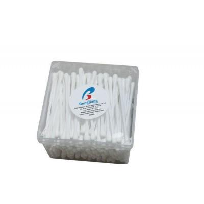 荣邦医疗 医用盒装双头棉签 一次性医用优质木棒棉签厂家