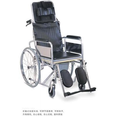 邦哲 BZ609GC医用折叠式带坐便轮椅 可调节高靠背多功能轮椅报价