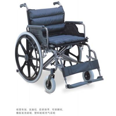 邦哲 BZ951B-56折叠式医用不锈钢轮椅 老年人手动轮椅报价