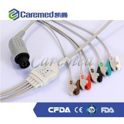 凯曼 AAMI一体式心电监护电缆及导联线 十八导心电图机导联线价格