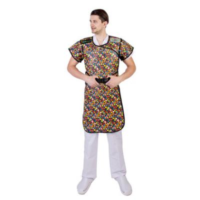 进口无铅铅衣  双面连体半袖无铅铅衣 优美优无铅铅衣