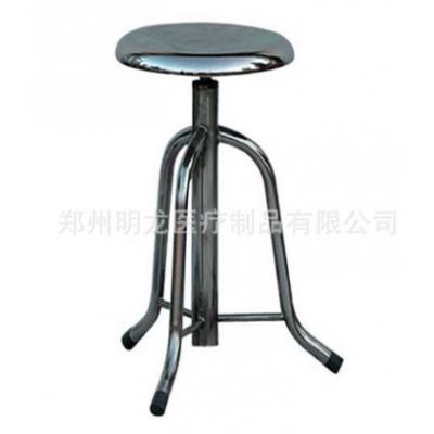 明龙医疗 医用不锈钢靠背圆凳 护士升降手术圆凳 实验室凳厂家