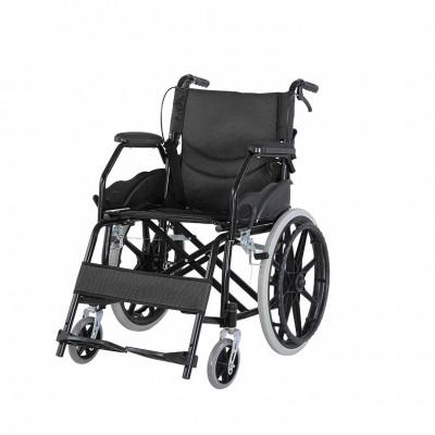 骏龙 软座轮椅残疾人老人便携轮椅车 全躺老人瘫痪折叠轻便代步轮椅报价