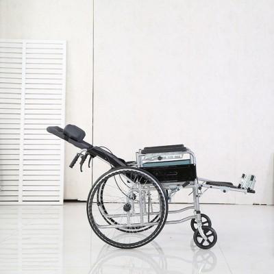 骏龙 老人轮椅全躺加厚可折叠轮椅 半躺轮椅轻便便携轮椅报价