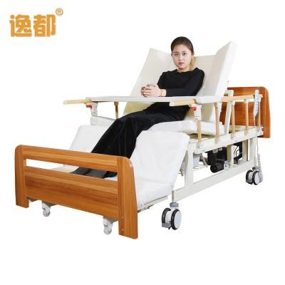 力澜 医用电动护理床 可升降电动病床 病房老人实木床厂家