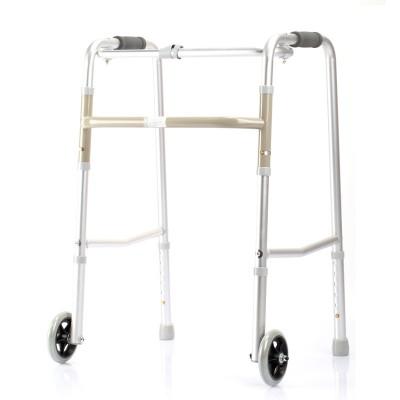 庞驰 鱼跃YU750助行器 四脚老人走路辅助器 拐杖可折叠辅助助行器厂家