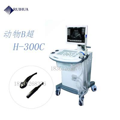 瑞华推车式动物B型超声诊断仪-H300C推车式b型超声诊断仪生产厂家
