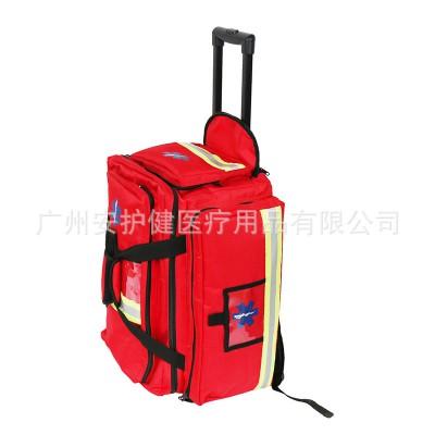 安护健 大型医用救护车拉杆急救包 多功能背包消防应急户外医用包厂家
