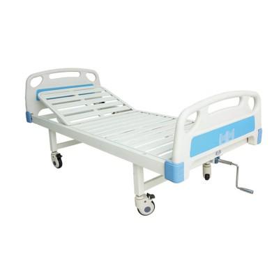 弘德 医用病床 单摇双摇式病房平板病床 ABS床头多功能冲孔护理床报价