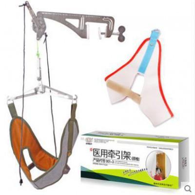 林尚 悬式颈椎牵引架 吊带颈椎牵引器架 家用颈椎病拉伸器厂家