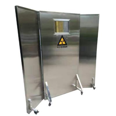 双联防辐射铅屏风3mmpb 康护射线移动式双联屏风1500*1800mm