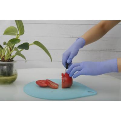 泰能鸿森 9英寸  3.5g 蓝紫色 一次性使用丁腈检查手套 手套厂家