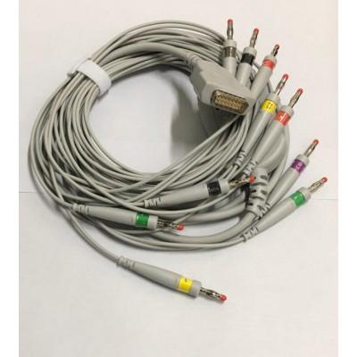 盛合天赋-GE心电图机导联线 马葵特十二导心电导联线